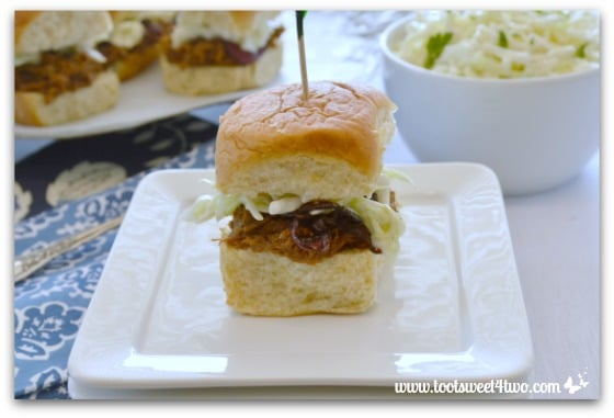 BBQ Beef Sliders with Creamy Crunchy Coleslaw Pic 4