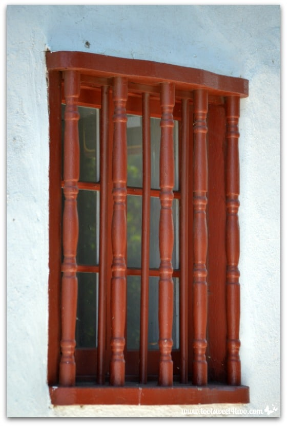 Barred window at Mission San Antonio de Pala