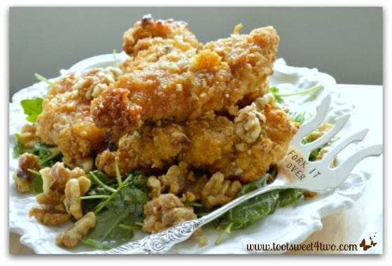 Crispy Honey Walnut Chicken with Arugula Pic 7
