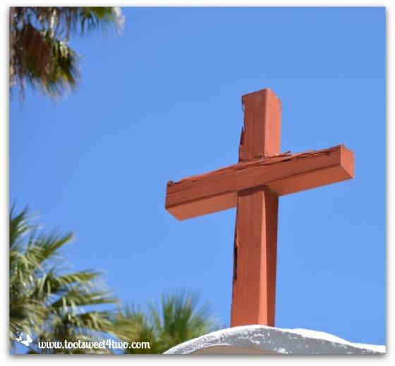 Cross atop Mission San Antonio de Pala