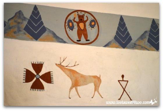Deer and bear mural at Mission San Antonio de Pala