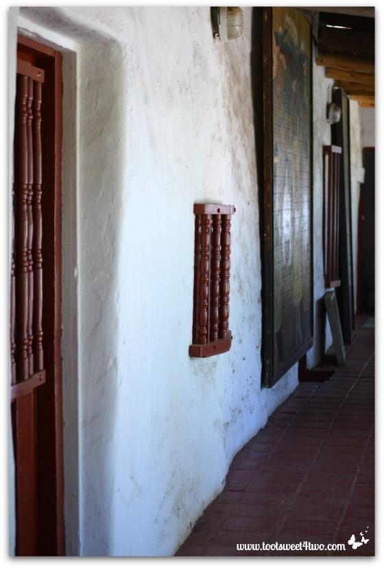 Exterior corridor at Mission San Antonio de Pala