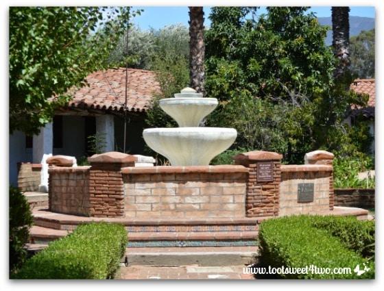 Fountain dedicated to Carl Burkhard at Mission San Antonio de Pala