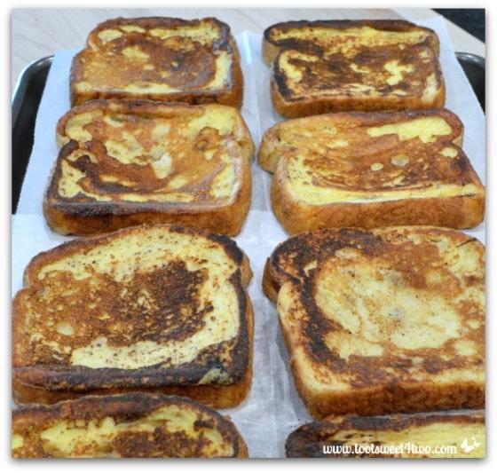 French Toast on baking sheet