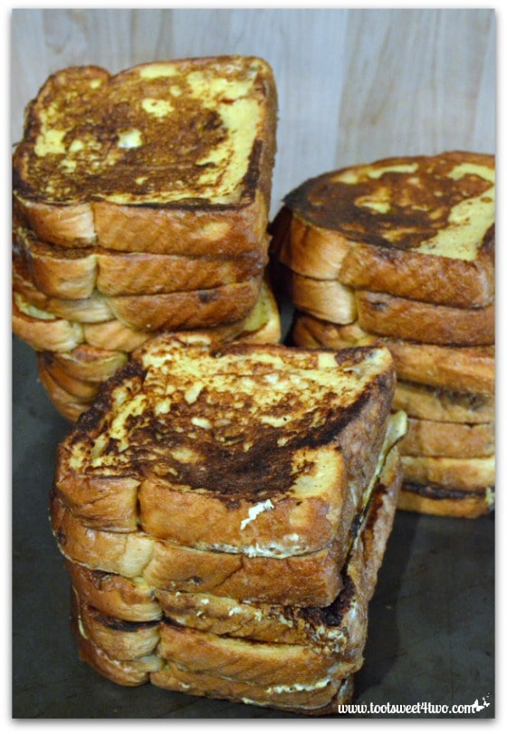 French Toast slices stacked