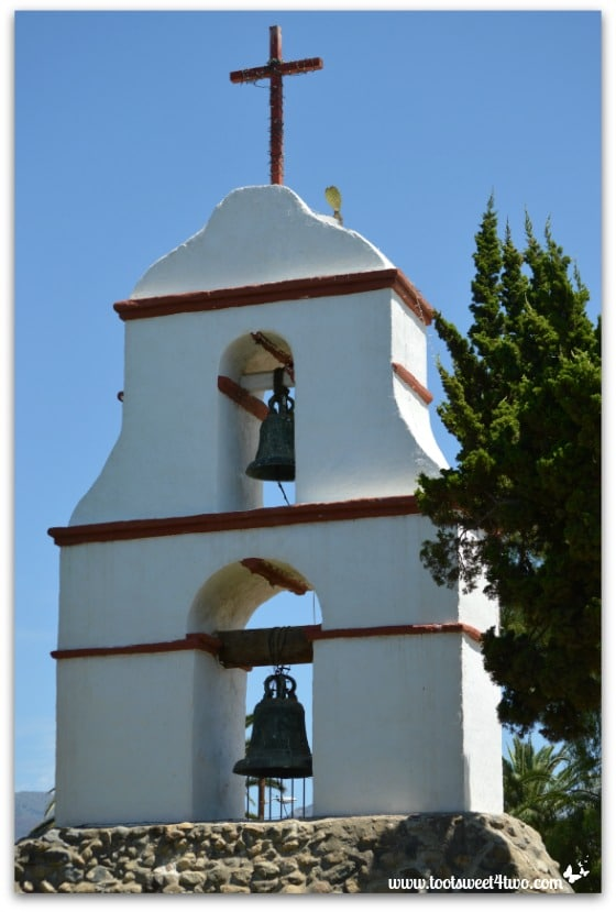 Full view of Bell Tower at Mission San Antonio de Pala