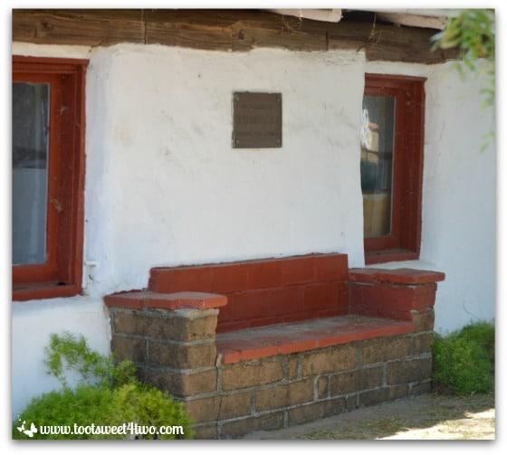 Garden bench at Mission San Antonio de Pala