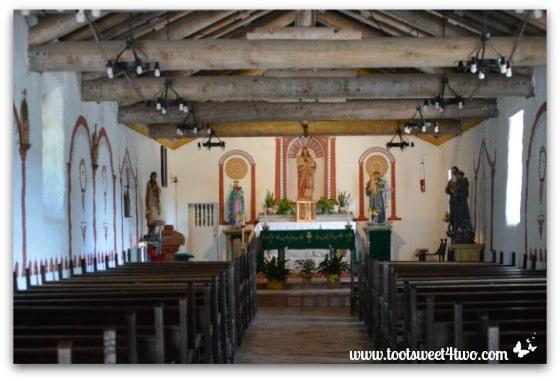 Interior chapel at Mission San Antonio de Pala