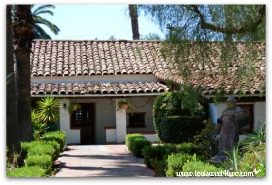 Interior courtyard gardens at Mission San Antonio de Pala