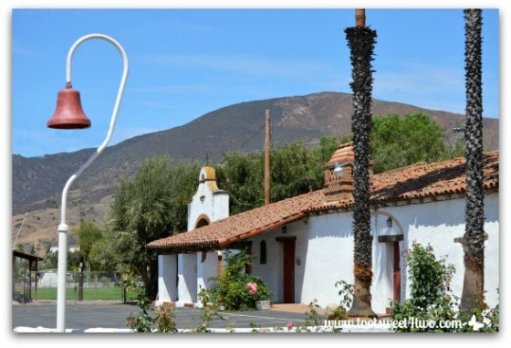 Mission Bell in front of Mission San Antonio de Pala