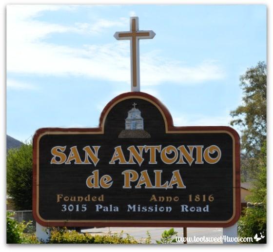 Roadside sign for Mission San Antonio de Pala