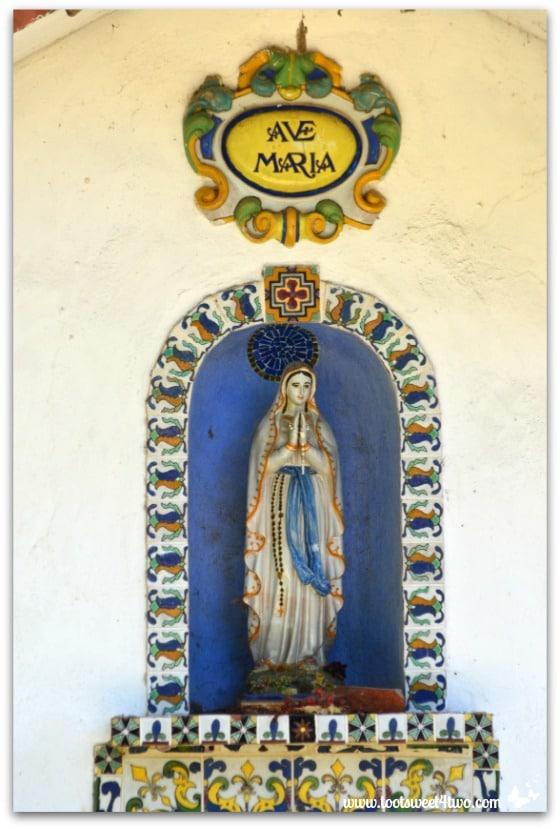 Shrine to Mary in gardens of Mission San Antonio de Pala