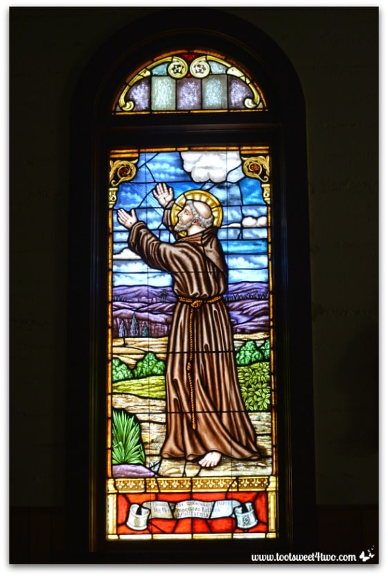 Stained glass window of Father Fernando Martin - Mission Santa Ysabel