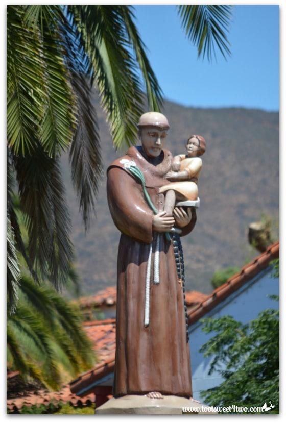 Statue of Fray Antonio Peyri at Mission San Antonio de Pala