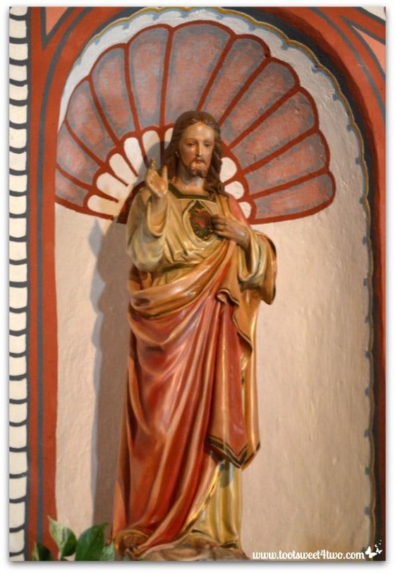 Statue of Jesus in Mission San Antonio de Pala Chapel