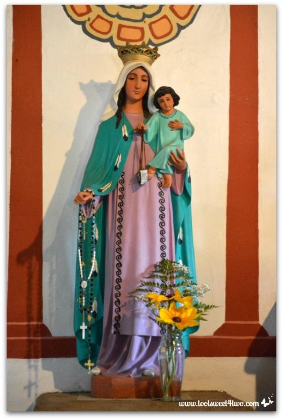 Statue of Mary and baby Jesus in Mission San Antonio de Pala Chapel