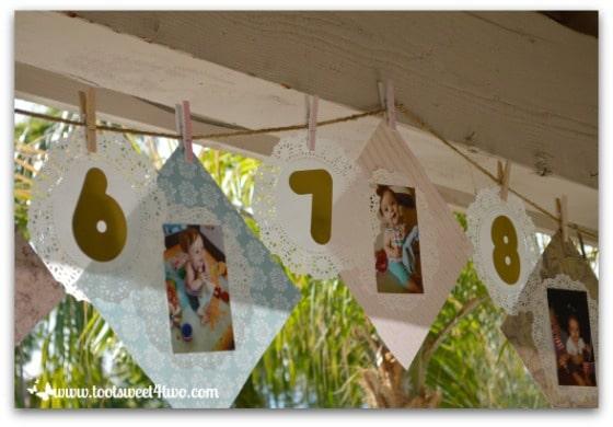 1st birthday timeline banner