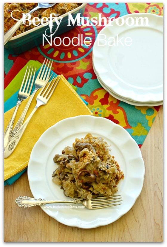Beefy Mushroom Noodle Bake cover