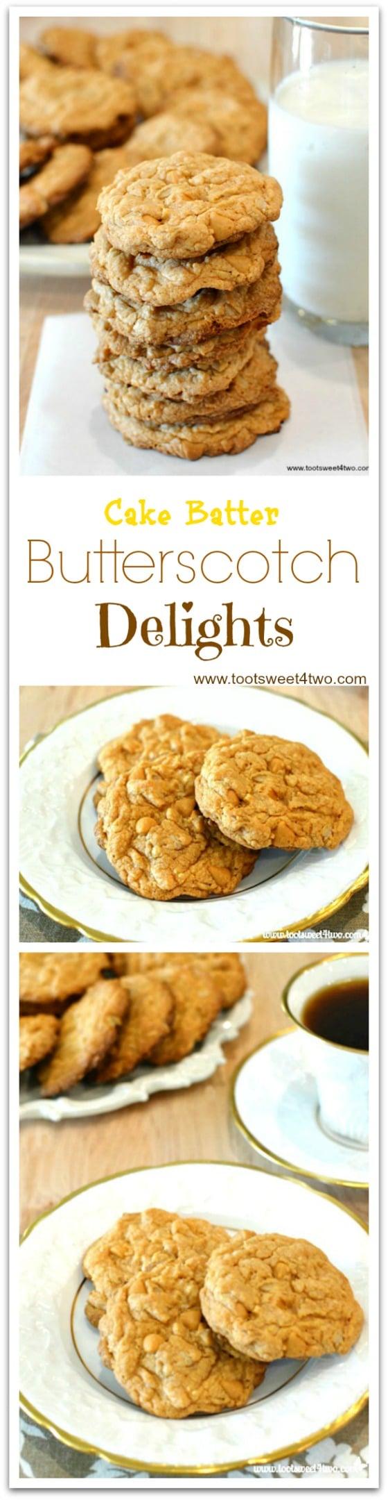 Cake Batter Butterscotch Delights