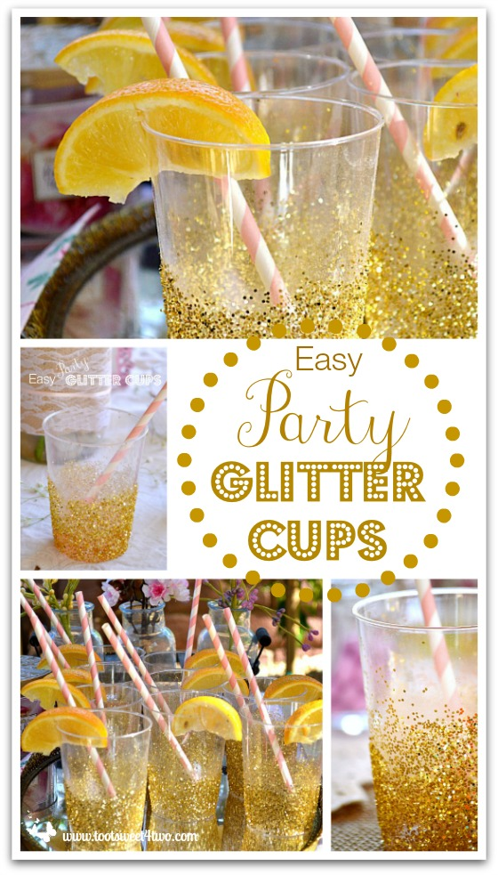 Easy Party Glitter Cups Pinterest