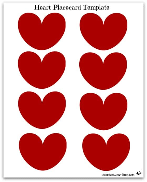 Heart Placecard Template photo
