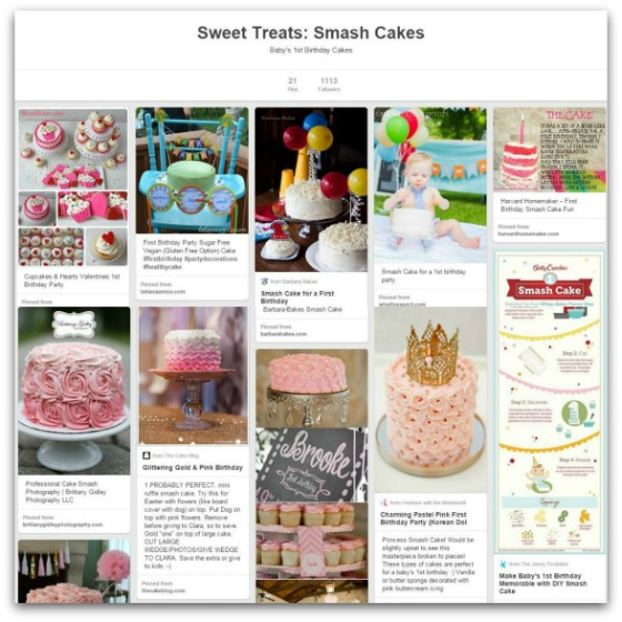 Pinterest Smash Cake Board
