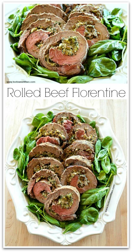 Rolled Beef Florentine