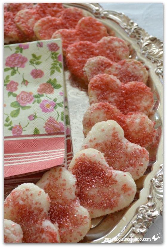 Sweetheart Red Sprinkle Pie Crust Cookies