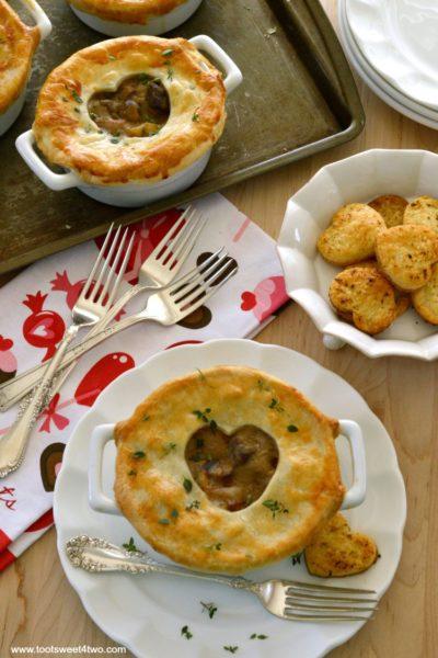 Sweetheart Steak and Potato Pot Pie