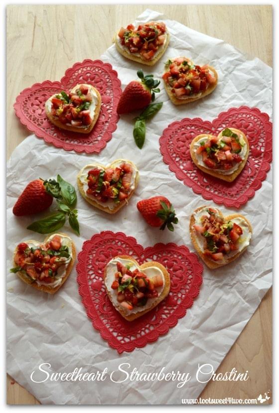 Sweetheart Strawberry Crostini Pic 1