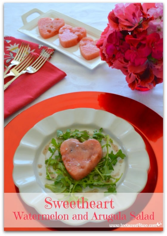 Sweetheart Watermelon and Arugula Salad Pinterest