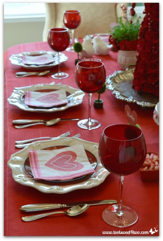 Valentine's Day tablescape Pic 1