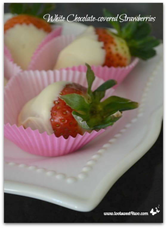 White Chocolate-covered Strawberries vertical