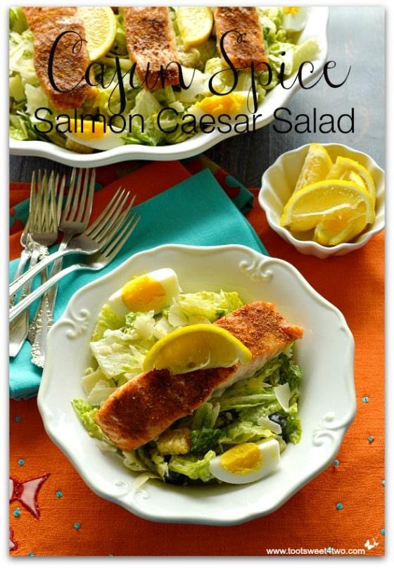 Cajun Spice Salmon Caesar Salad cover