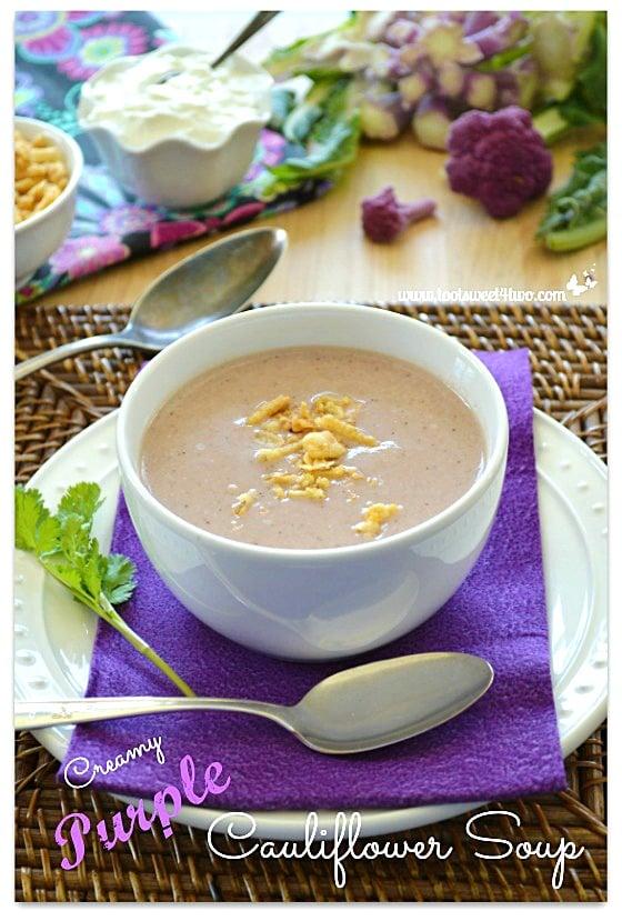 Creamy Purple Cauliflower Soup - Pot O'Gold