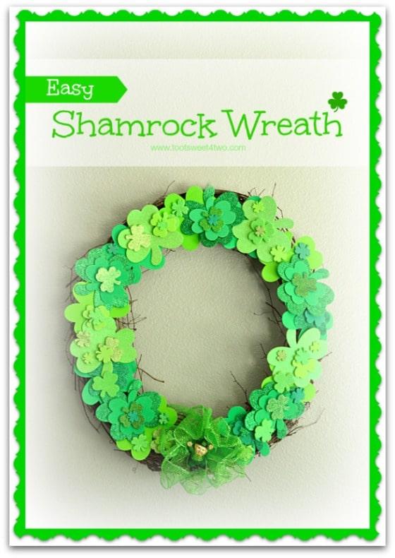 Easy Shamrock Wreath cover