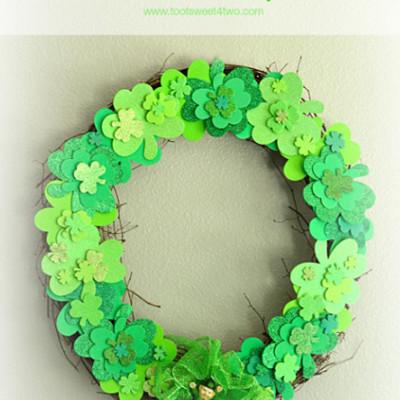 Easy Shamrock Wreath
