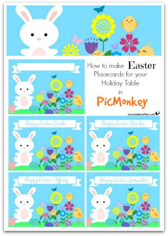 How to Make Easter Placecards for your Holiday Table in PicMonkey - Pic 101