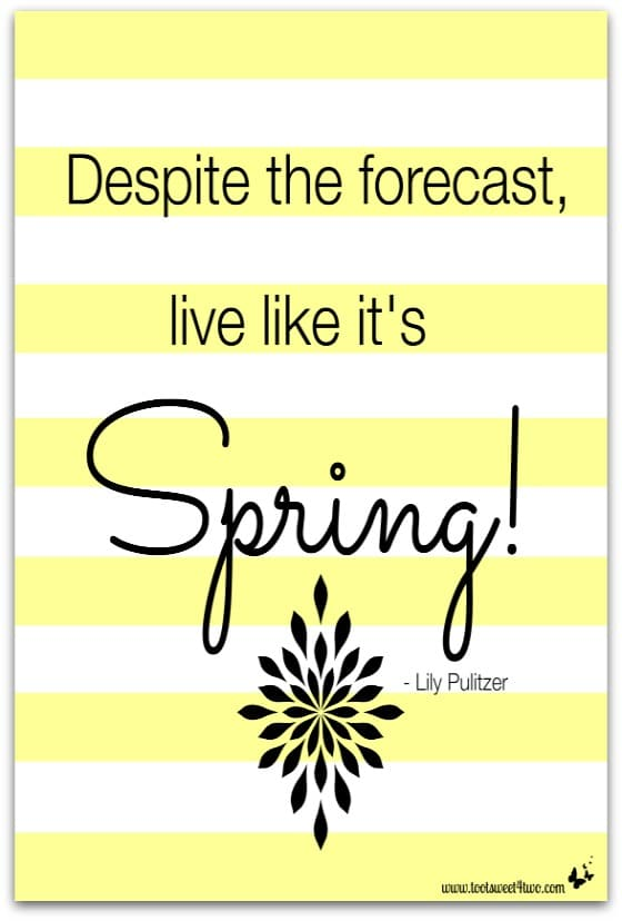 Live Like It's Spring - 10 FREE Spring and Easter Printables