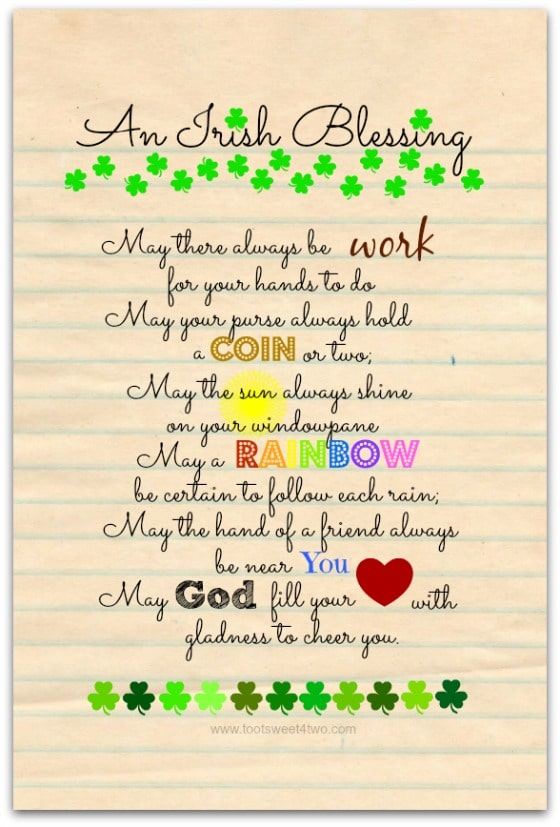 May a Rainbow - 17 Irish Blessings, Proverbs and Toasts