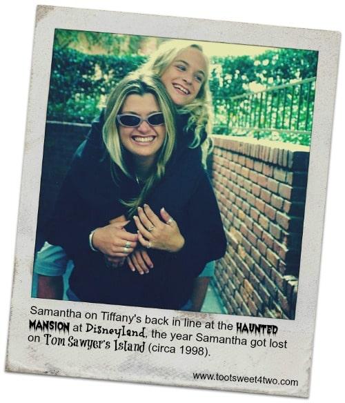 Tiffany and Samantha at Disneyland 1998