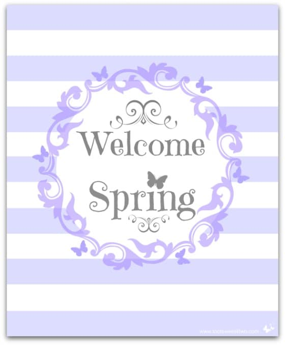 Welcome Spring  - 10 FREE Springs and Easter Printables