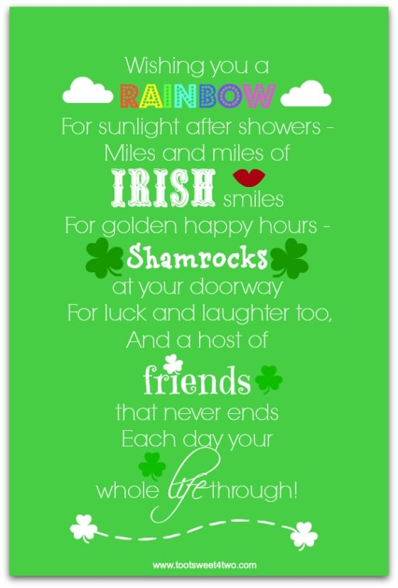 Wishing You a Rainbow - 17 Irish Blessings, Proverbs and Toasts
