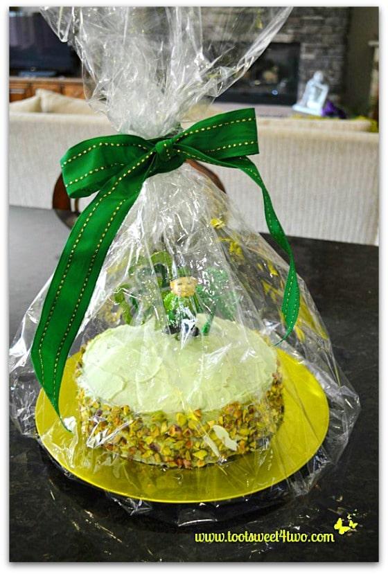 Wrapped Leprechaun Cake - Easy Shamrock Wreath
