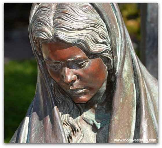 Face of Mary - The Pieta at San Diego Mission de Acala