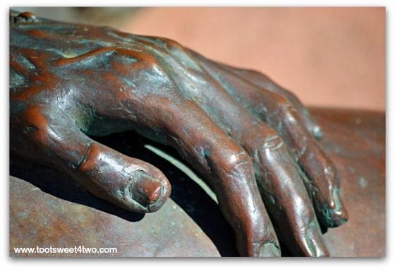Jesus' hand - The Pieta - San Diego Mission de Acala