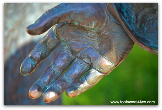 Joseph's hand - The Pieta - San Diego Mission de Acala