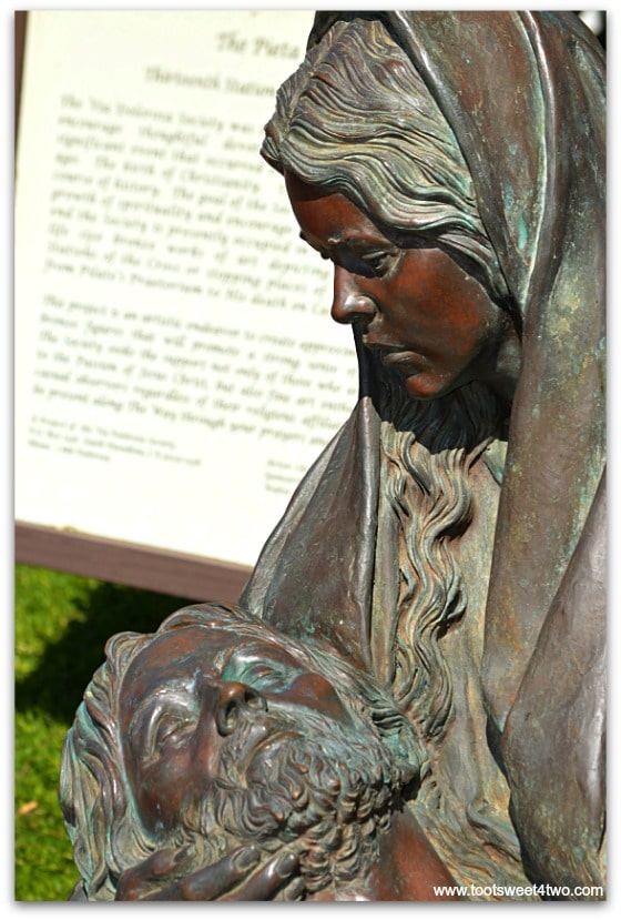 Mary holding Jesus - The Pieta at San Diego Mission de Acala