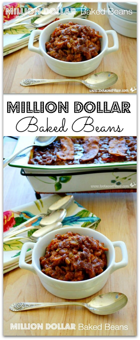 Million Dollar Bakes Beans collage