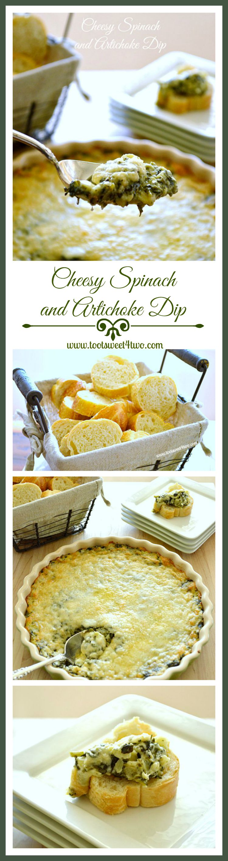 Cheesy Spinach and Artichoke Dip Pinterest
